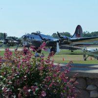 Boeing B-17 preparing to depart.
