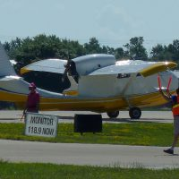 Republic Seabee awaiting departure clearance.