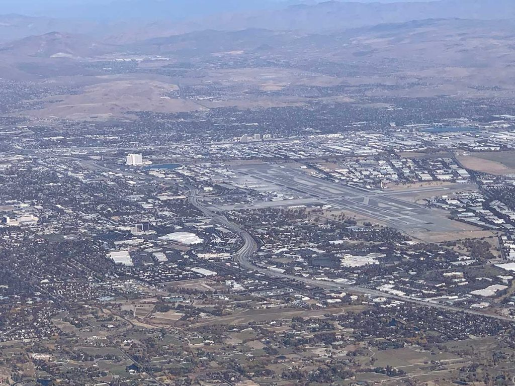 Reno from 10,500' MSL